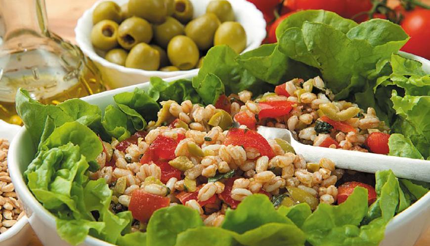 Салат с пшеницей